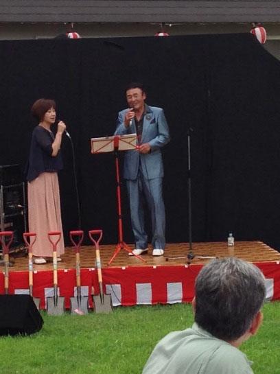山郷館夏祭り 岡本忠幸さんの歌謡ショー