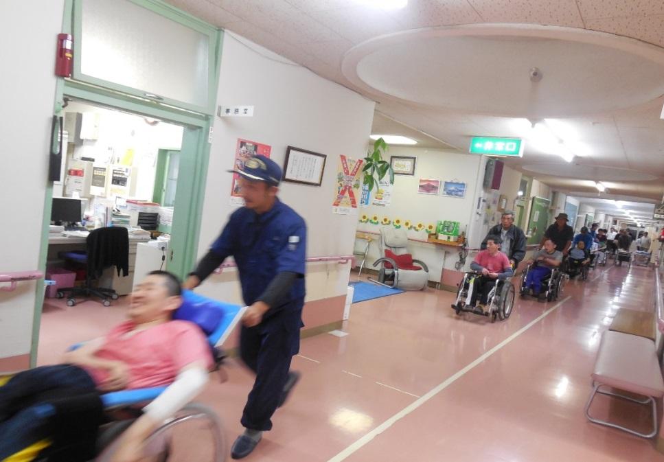 弥生地区協力防災訓練 障害者支援施設 山郷館